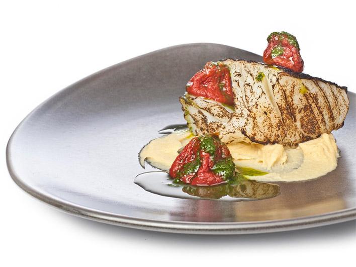 Menú con pescado